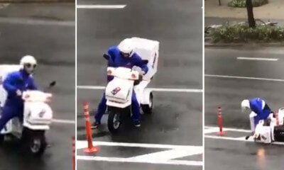 Abang Delivery Man Vs Japan's Typhoon Jebi - WORLD OF BUZZ 2