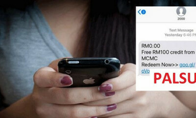 Beware Of This MCMC SMS Scam That Offers RM100 Credit - WORLD OF BUZZ 4