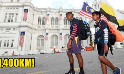 Father & Son Walk From Johor to Perlis for M'sia Day, Share Unforgettable Moments Along the Way - WORLD OF BUZZ