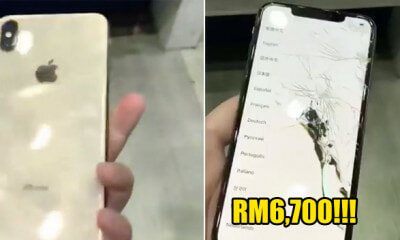 Man Buys The First iPhone XS Max in Taiwan Before Official Launch, Accidentally Dropped It - WORLD OF BUZZ