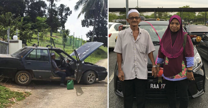 M'sian Father's Old Saga Keeps Breaking Down, 9 Siblings Chip In to Buy Him a New Car - WORLD OF BUZZ