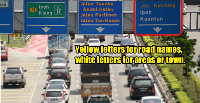 M'sian Road Signs Have Different Colours, Numbers, and Letters on Them, Here's the Reason Why - WORLD OF BUZZ
