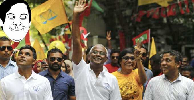 Ruling Govt of Maldives Overthrown by Opposition Party That Uses Similar Logo With BN - WORLD OF BUZZ