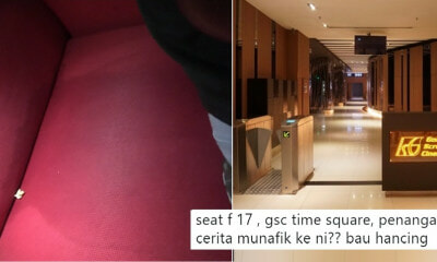 Someone Got So Scared Watching A Movie in Berjaya Times Square, They Peed on the Seat! - WORLD OF BUZZ