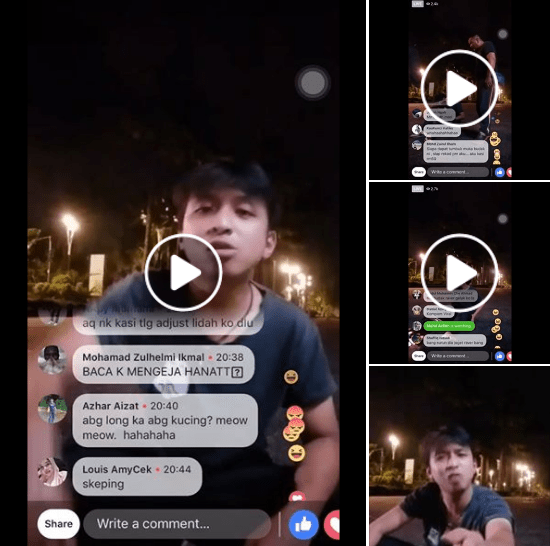 Watch: Raver Cari Pasal On Facebook Live and Got What He Asked For - WORLD OF BUZZ