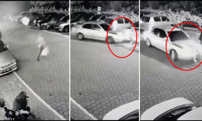 CCTV Footage Shows a Woman Being Rammed and Dragged - WORLD OF BUZZ