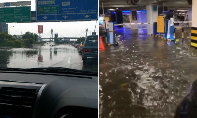 Heavy Rains in Klang & Subang Cause Traffic Congestion and Flood in Sunway Pyramid Parking Lot - WORLD OF BUZZ