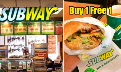 Malaysians Can Enjoy Buy-One-Free-One Promotion at Subway on 1 November - WORLD OF BUZZ
