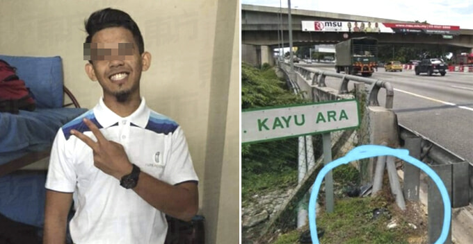 Man Stops to Help Accident Victims on NKVE, Gets Hit By Lorry And Flew Off Bridge - WORLD OF BUZZ
