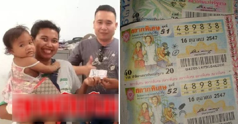 Mother Buys Lottery Ticket That Infant Daughter Grabbed, Ends Up Winning Over RM760K - WORLD OF BUZZ 1