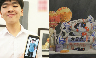 M'sian Artist Channels His Love For Food Into Paintings, Successfully Loses 30kg - WORLD OF BUZZ 1