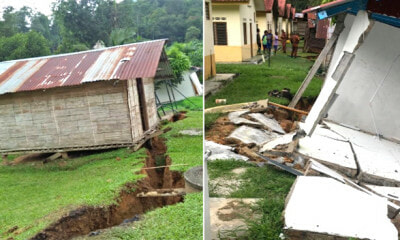 Orang Asli Village Near Cameron Suffers Massive Land Cracks Due to Heavy Rain - WORLD OF BUZZ