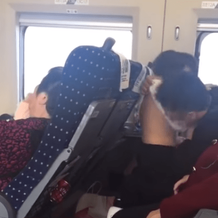 Passengers Shocked By Father Being Unusually Intimate with Young Daughter, Even Inserts Hand In Her Pants - WORLD OF BUZZ