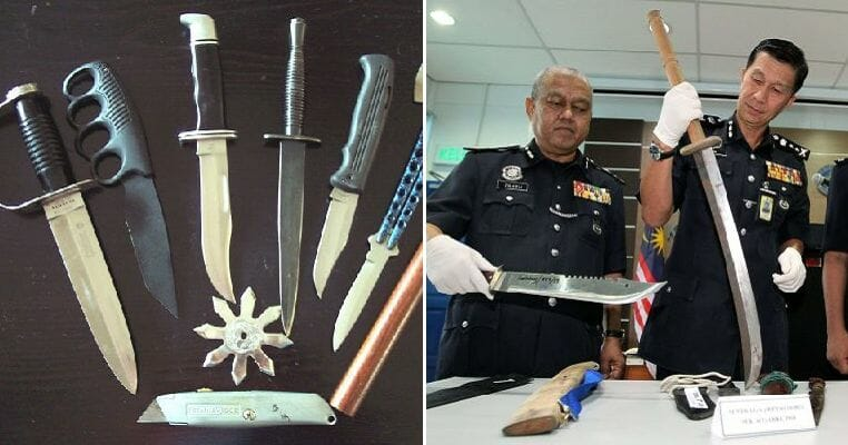 PDRM: You Can Be Jailed for 10 Years If You Carry Hockey Sticks, Batons and Knives for Self-Defence Purposes - WORLD OF BUZZ 4
