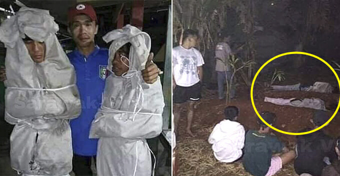 Teenagers Dress Up As Pocong to Scare Villagers, End Up Sleeping in Cemetery After Kena Kantoi - WORLD OF BUZZ