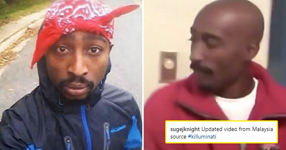 There's A Rumour That Late Rapper Tupac Shakur is Actually Living in Malaysia Right Now - WORLD OF BUZZ