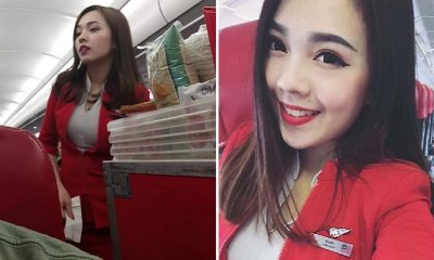 These Candid Photos of AirAsia Flight Attendant Has Netizens' Hearts Taking Flight - WORLD OF BUZZ 9