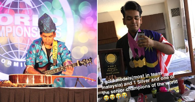 This 16yo M'sian Made It to World Championship By Playing Guitar Blindfolded and with Two Guitars - WORLD OF BUZZ 9
