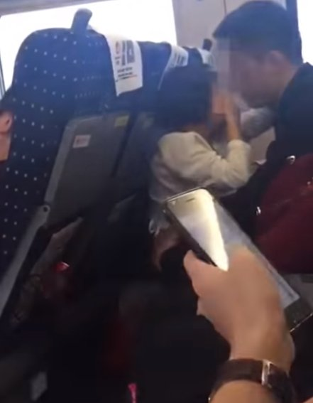 Train Passengers Shocked By Father Kissing and Inserting Hands In Young Daughter's Pants - WORLD OF BUZZ 1