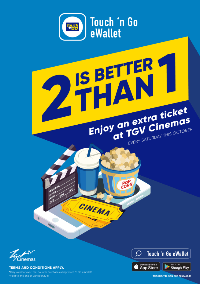 You Can Enjoy Buy 1 Free 1 TGV Movie Tickets Every Saturday - WORLD OF BUZZ