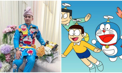 Doraemon Themed Baju Melayu Broke The Internet - WORLD OF BUZZ 1