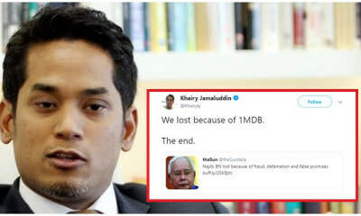 KJ Says BN Lost in GE14 Because of 1MDB, Not Pakatan's False Promises - WORLD OF BUZZ