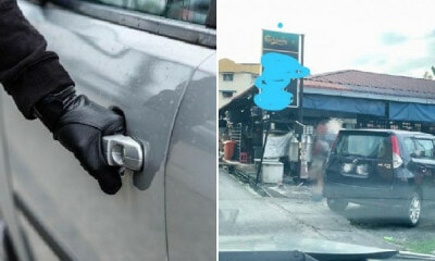 M'sian Girl Escapes From Criminals Breaking Into Her Car At Ampang Thanks to Habit of Locking Door - WORLD OF BUZZ 3