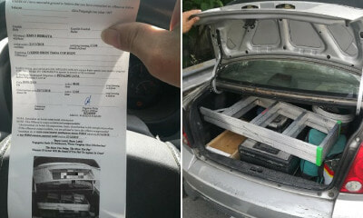 M'sian Man Kena Summons and Ordered to Court Because His Car Boot Had a Ladder and Tools - WORLD OF BUZZ 2