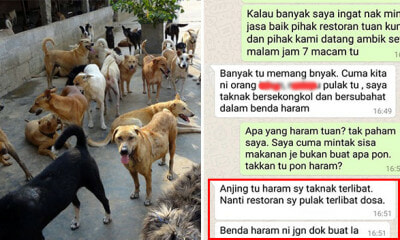 Restaurant Owner Refuses to Give Leftover Bones to Animal NGO Because Dogs Are Haram - WORLD OF BUZZ 1