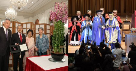 Singapore Named A Species of Orchid After Tun M & Wife, NUS Honours Them With Award - WORLD OF BUZZ 2