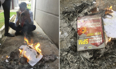 SPM Students Burn 'Add Maths' Textbook After Didn't Do Well In Exam - WORLD OF BUZZ