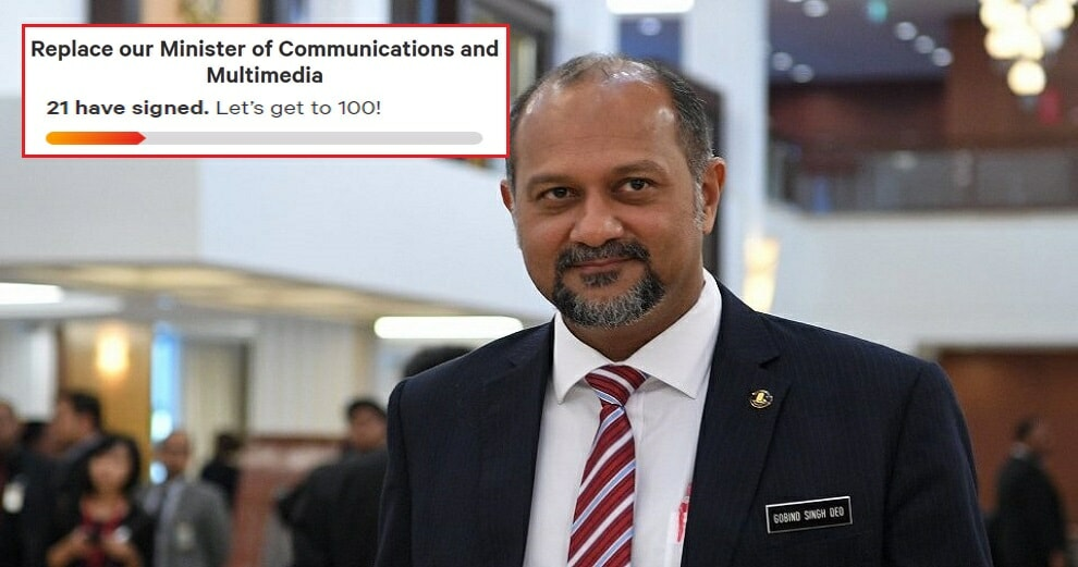 There's A Petition Calling For Gobind Singh's Resignation After His Criticism of TM's Services - WORLD OF BUZZ 1