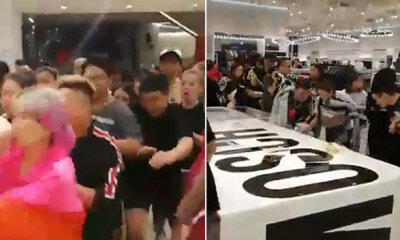 Watch How M'sians Go Crazy During Launch of Limited Edition Moschino at H&M Avenue K - WORLD OF BUZZ 3