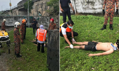 17yo Boy Sneaks Inside Sewage Plant in Ampang to Commit Suicide, Accidentally Hurts His Waist - WORLD OF BUZZ 2