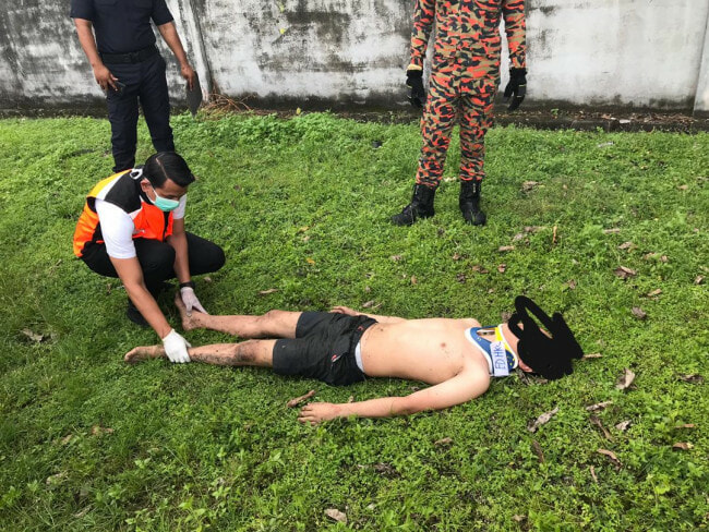 17yo Boy Sneaks Inside Sewage Plant in Ampang to Commit Suicide, Accidentally Hurts His Waist - WORLD OF BUZZ