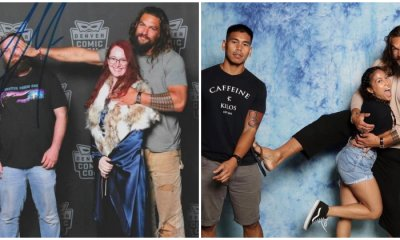 Aquaman Star Jason Momoa Pushes Husbands Away While Posing with Female Fans - WORLD OF BUZZ 9