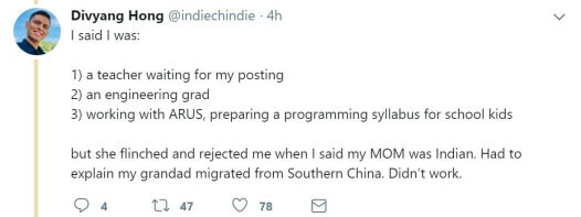 Chindian Man Who Speaks Mandarin Rejected By House Owner Because He's Not Pure Chinese - WORLD OF BUZZ