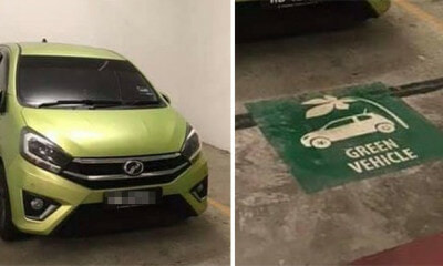 "Man Shames Green Axia Driver for Parking at ""Green Vehicle"" Spot, Turnsc Out It's Actually Eco-Friendly - WORLD OF BUZZ"