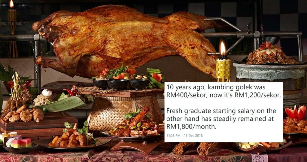 Netizen Laments Rising Prices Of Kambing Golek, Yet A Fresh Graduate's Salary Have Steadily Remained - WORLD OF BUZZ 1