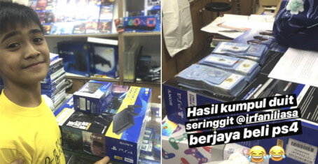 This 12-Year-Old M'sian Kid Runs His Own Business To Save Up For PlayStation 4 - WORLD OF BUZZ