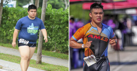 This 120kg M'sian Teen Sheds 48kgs And Is Now Taking Part In IRONMAN Triathlon - WORLD OF BUZZ