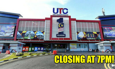 UTCs Announced to Be Closing At 7PM Starting Jan 2019, Najib Slams Govt & Asks Them To Close It - WORLD OF BUZZ 1