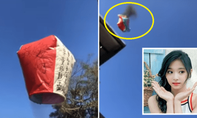 [Video] Guy's Kongming Lantern Went Up in Flames as He Shouts His Wish to Marry K-pop Singer - WORLD OF BUZZ 1