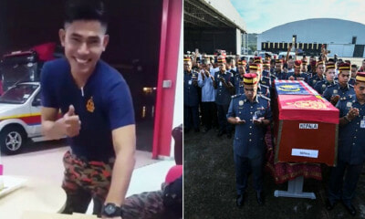 Video Showing Firefighter Adib Celebrating His Final Birthday Goes Viral After His Funeral - WORLD OF BUZZ