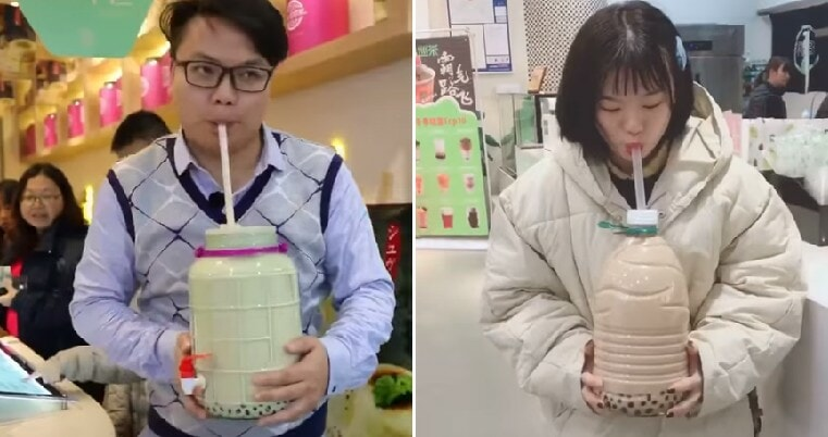 """Viral Video Showing """"Most Extra Way Of Drinking Bubble Tea"""" Has Got Netizens Amused - WORLD OF BUZZ 5"""