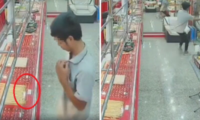 Watch How Robber Tries To Steal Gold Necklace And Fails Miserably - WORLD OF BUZZ 5