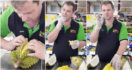 Watch: This Angmoh Can Open A Durian Better Than You - WORLD OF BUZZ 4