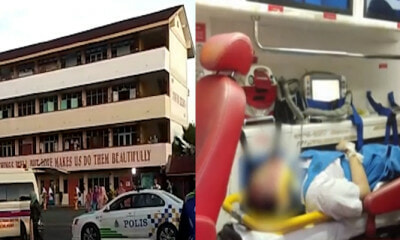 17yo Student Heavily Injured After Allegedly Jumping Off School Building in Alor Setar - WORLD OF BUZZ
