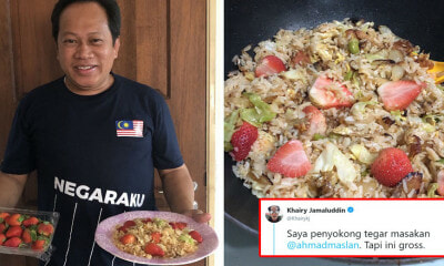 "Ahmad Maslan Shares Photos of Him Making 'Nasi Goreng Strawberry', KJ Calls It ""Gross"" - WORLD OF BUZZ 5"