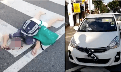 An Elderly Tourist Dies after Being Hit by a Car While Crossing the Road in Penang - WORLD OF BUZZ 1